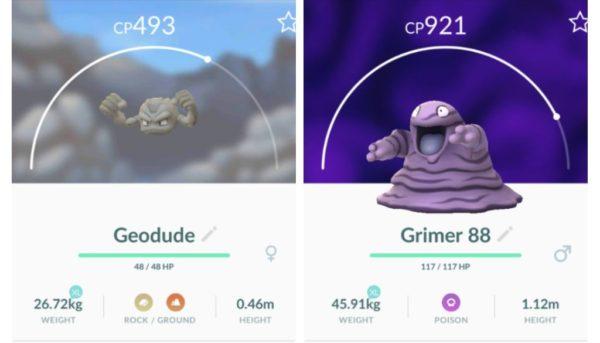 Nye shinies: Geodude og Grimer