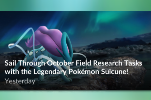 Suicune i research tasks fra 1/10
