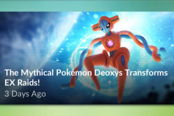 Opdateret: Deoxys som ny EX-raid boss