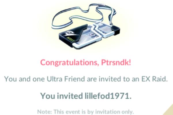 Sådan inviterer du en ven til EX-raid