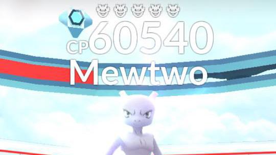 Info om Mewtwo i almindelige raids