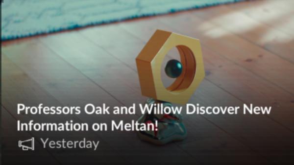 Meltan kræver Pokemon Let's Go at fange