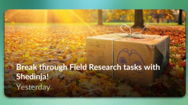Special research i November er Shedinja