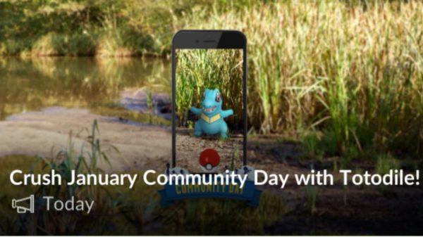 Community Day i januar bliver med Totodile