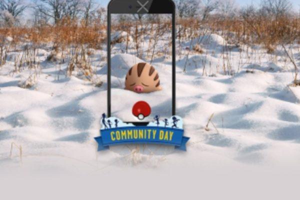 Februar Community Day med Swinub og Mamoswine