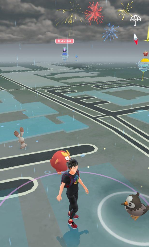 Realtids-vejr i Pokemon Go